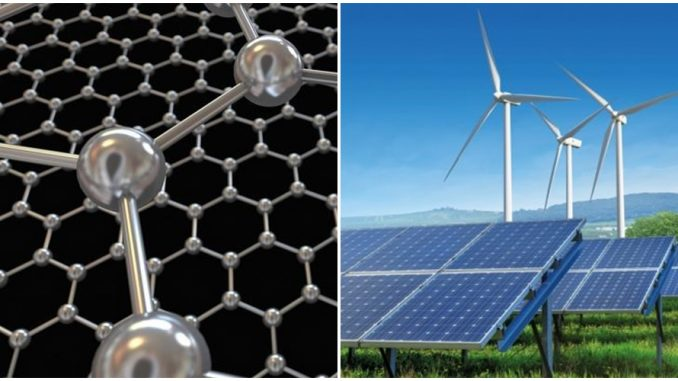 Graphene ou l'avenir du stockage des énergies renouvelables.