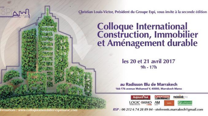"""COLLOQUE """"IMMOBILIER, CONSTRUCTION ET AMÉNAGEMENT DURABLE"""""""