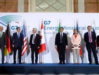 Les ministres de l'énergie des pays du G7