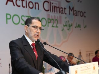 M. Saâd Eddine El Othmani à la conférence nationale Post COP22.