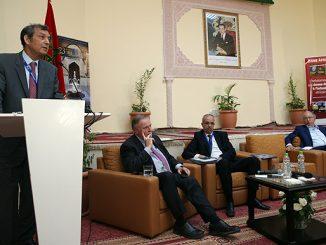 Abdeladim Lhafi, lors de la 1ère session du Forum du 23è festival des musiques sacrées du Monde