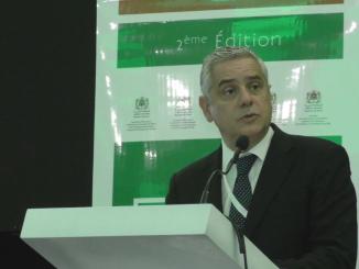 Saïd Mouline, directeur général de l'Amee, Dans son intervention lors de la deuxième édition du Forum Marocain des métiers verts.