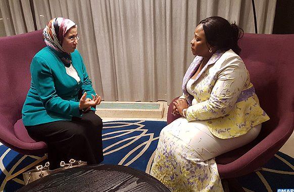 La Secrétaire d'Etat en charge du Développement durable, Mme Nezha El Ouafi
