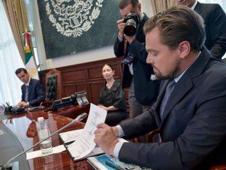 Leonardo DiCaprio et le président du Mexique signent un accord pour sauver une espèce de marsouins