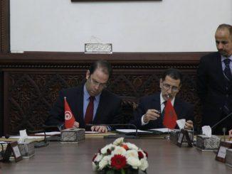 le Chef du gouvernement, Saâd Eddine El Othmani, et son homologue tunisien Youssef Chahed.