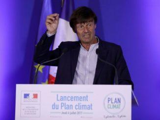 Nicolas Hulot, ministre de la Transition écologique et solidaire en France