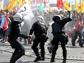 Manifestation pour la défense de l'environnement au Brésil