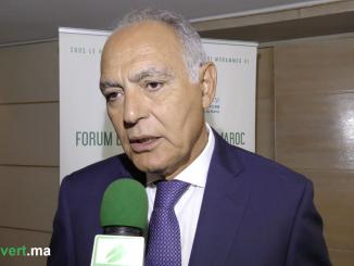 Salaheddine Mezouar, président COP22 lors du forum « Entreprises Climat Maroc ».