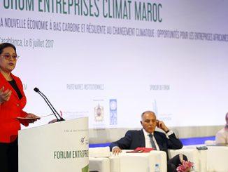 Mme Bensalah Chaqroun lors du Forum « Entreprises Climat Maroc »