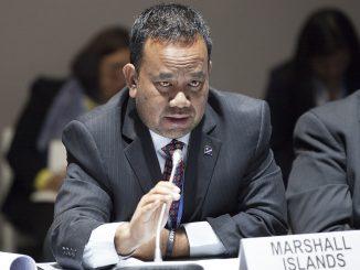 Ministre de l'environnement des Iles Marshall lors de la COP22 - Mattlan Zackhras