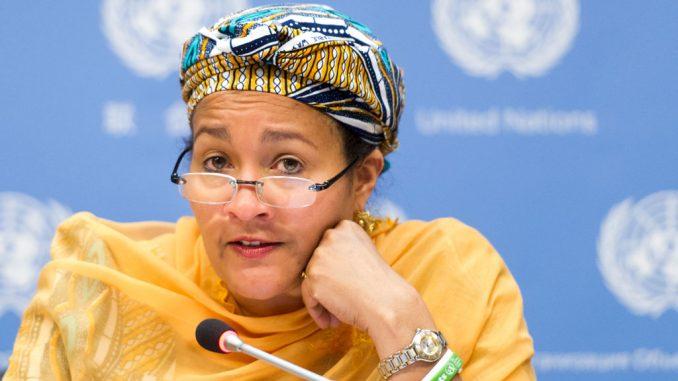 La Vice-Secrétaire générale des Nations Unies, Amina J Mohammed