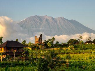 Le mont Agung à Bali