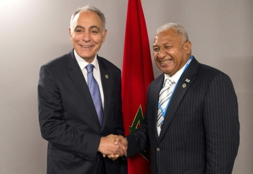 Salaheddine Mezouar et Josaia Voreqe Bainimarama