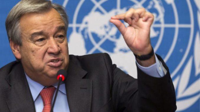 Le Secrétaire général de l'ONU, António Guterres