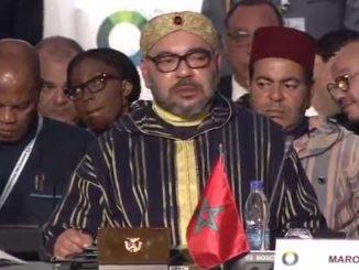 Arrivée du Roi Mohammed VI au sommet UA-UE