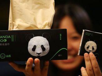 Les excréments de panda recyclés en mouchoir
