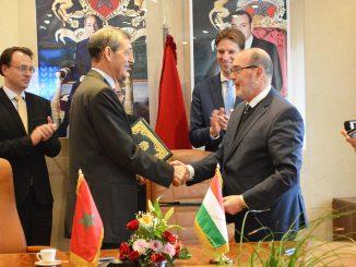 Dr Abdeladim LHAFI et l'Ambassadeur de la Hongrie Monsieur Miklos Eric TROMLER