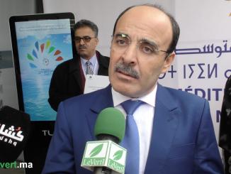 رئيس جهة طنجة تطوان الحسيمة السيد إلياس العماري في افتتاح أشغال دار المناخ المتوسطية
