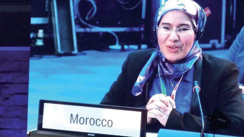 La Secrétaire d'Etat en charge du Développement durable, Mme Nezha El Ouafi .