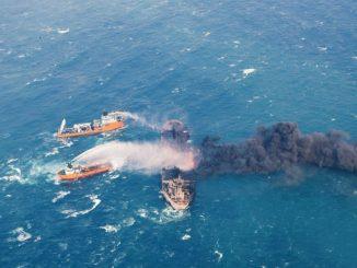 Photo fournie par le ministère des Transports chinois montre une intervention de navires chinois