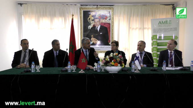 Said Mouline Directeur Général de l'AMEE et Anne Vasara ambassadrice de la Finlande au Maroc