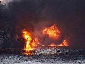 Le Sanchi, qui transportait 136.000 tonnes de condensats, des hydrocarbures légers, a sombré le 14 janvier