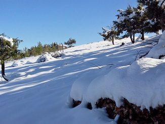 Chutes de neige au Maroc