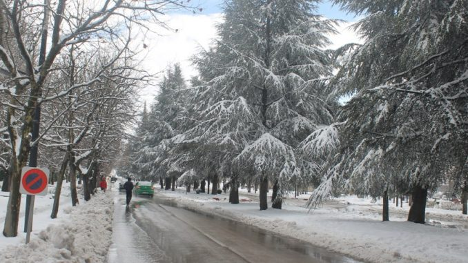 De fortes chutes de neige et un temps froid au Royaume