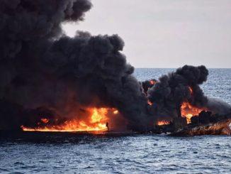 Catastrophe Environnementale : Le pétrolier iranien en flammes au large de la Chine a coulé