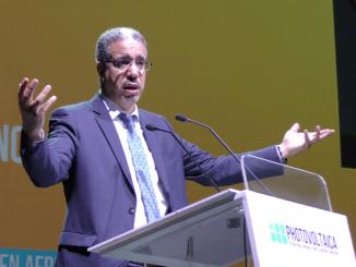 M. RABBAH lors de son allocution au Photovoltaica 2018
