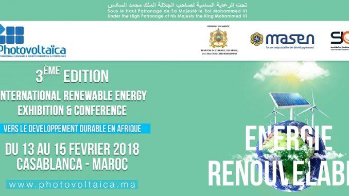 Marrakech : La troisième édition du Salon International de l'énergie solaire « « Photovoltaïca 2018 » est lancée