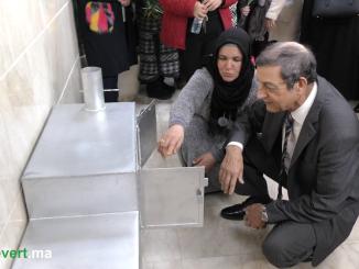 الدكتور عبد العظيم الحافي والمرأة القروية خلال اليوم العالمي للمرأة
