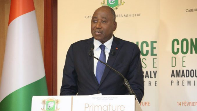 Le Premier ministre de Côte d'Ivoire, Amadou Gon Coulibaly