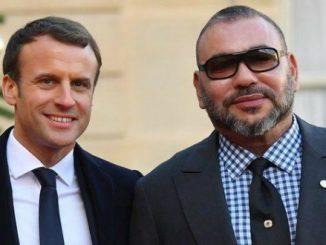 Sa Majesté le Roi Mohammed VI reçu à l'Elysée par Emmanuel Macron
