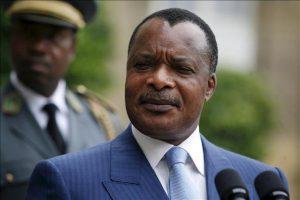 Le président de la République du Congo Denis Sassou N'guesso