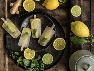 Glaces bio au thé vert citron gingembre