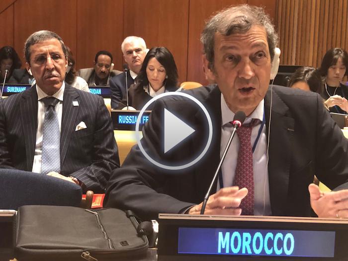 Le Haut Commissaire aux Eaux et Forêts et à la Lutte Contre la Désertification Docteur Abdeladim LHAFI expose au siège des Nations Unies à New York, la politique du Maroc dans la gestion des écosystèmes forestiers