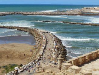 La plage des Oudayas de Rabat