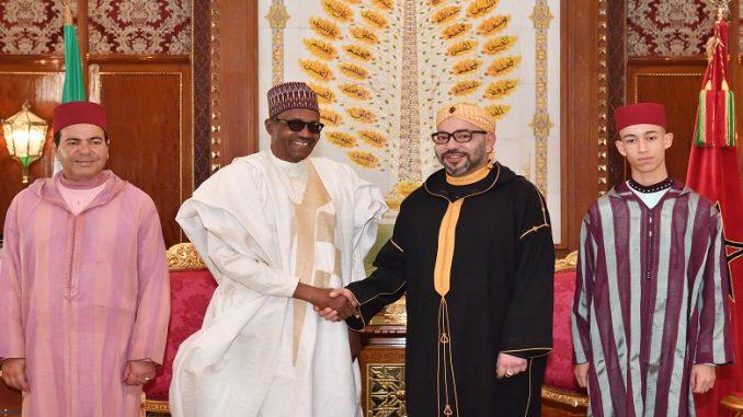 Entretiens en tête-à-tête entre S.M. le Roi et le Président de la République Fédérale du Nigeria