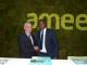 Saïd Mouline, Directeur Général de l'AMEE et de M. Bachir Ismaël Ouedraogo, Ministre des Mines