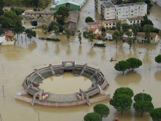 Inondations dans l'Aude en France