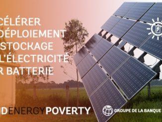 La Banque mondiale : stockage de l'électricité des énergies renouvelables