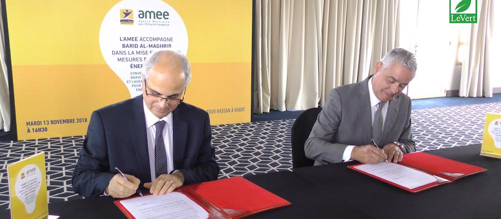 Barid Al-Maghrib signe avec l'AMEE une convention d'efficacité énergétique