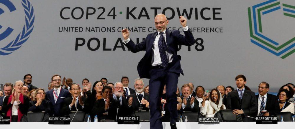 Katowice (Pologne), samedi 15 décembre. Le président de la COP24 Michal Kurtyka